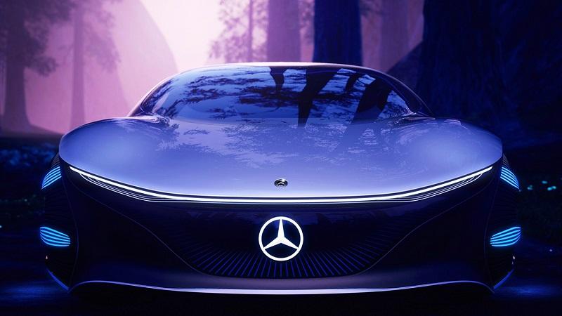 Logo ngôi sao 3 cánh của thương hiệu Mercedes