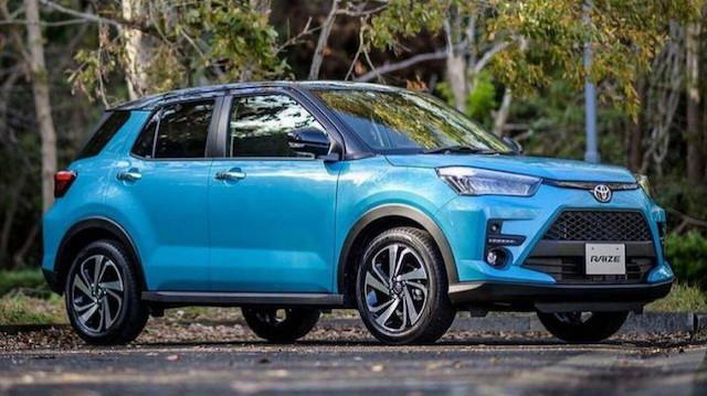 Phần thân xe Toyota Raize có thiết kế ấn tượng