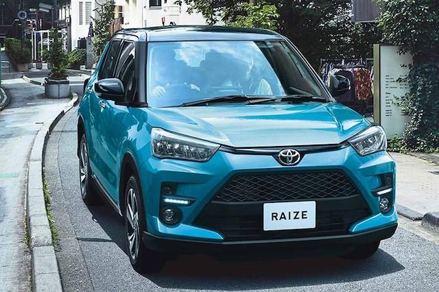 Tổng thể phần đầu của xe Toyota Raize